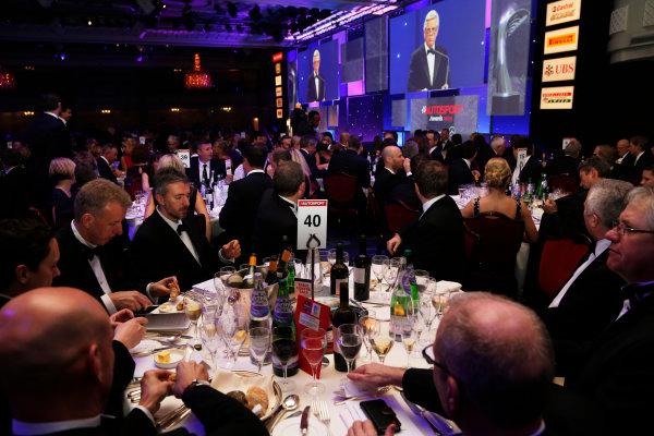 2015 Autosport Awards. Grosvenor House Hotel, Park Lane, London. Sunday 6 December 2015. McLaren Applied Technologies Table. World Copyright: Adam Warner/LAT Photographic. ref: Digital Image _L5R9018
