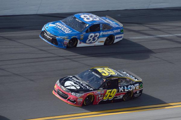13-21 February, 2016, Daytona Beach, Florida, USA Michael McDowell, Leavine Family Racing (59), Michael Waltrip (83) ?2016, John Harrelson / LAT Photo USA