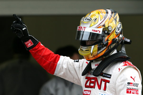 2016 Japanese Formula 3 Championship. Suzuka, Japan. 23rd - 24th April 2016. Rd 1 & 2. Rd. 1 Winner Kenta Yamashita ( #36 ZENT TOM'S F312 ) parc ferme, portrait.  World Copyright: Masahide Kamio / LAT Photographic. Ref: 2016JF3_Rd1&2_03
