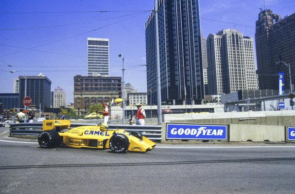 Ayrton Senna, Lotus 99T Honda.