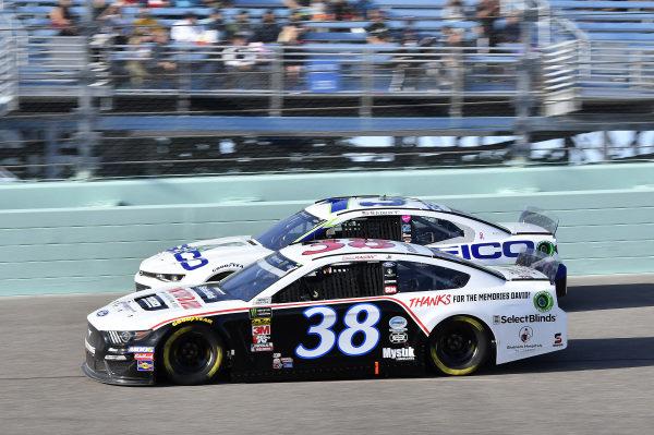 #38: David Ragan, Front Row Motorsports, Ford Mustang Thank You David, #13: Ty Dillon, Germain Racing, Chevrolet Camaro GEICO
