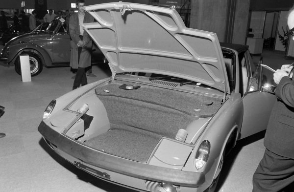 Forward luggage compartment on the Porsche 914.