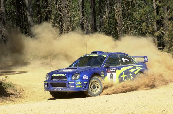 2001 World Rally ChampionshipTelstra Rally Australia, Perth, WA. 1-4 November 2001.Petter Solberg on stage 7.Photo: Ralph Hardwick/LAT