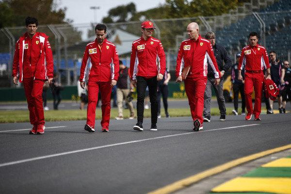 Charles Leclerc, Ferrari, with Jock Clear, Race Engineer, Ferrari.