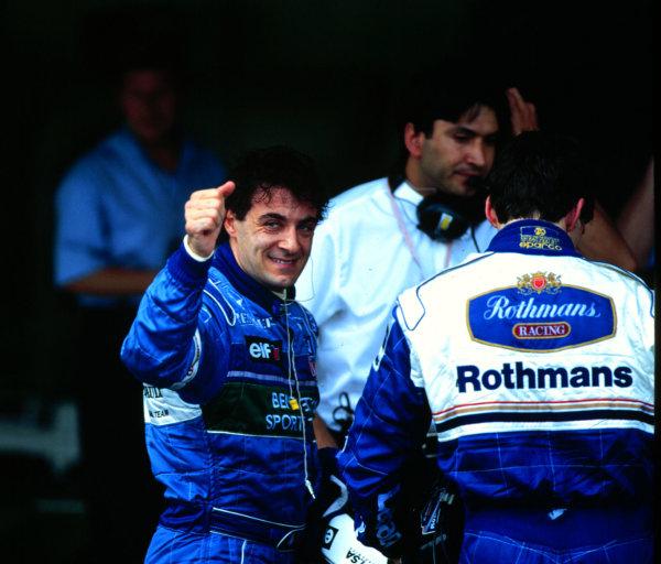 1996 Brazilian Grand Prix.Interlagos, Sao Paulo, Brazil.29-31 March 1996.Jean Alesi (Benetton Renault) 2nd position.World Copyright - LAT Photographic