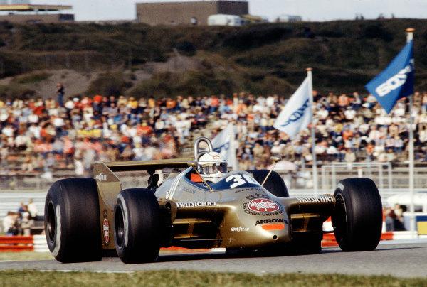 1979 Dutch Grand Prix.Zandvoort, Holland.24-26 August 1979.Jochen Mass (Arrows A2 Ford) 6th position.Ref-79 HOL 11.World Copyright - LAT Photographic