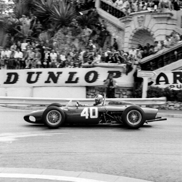 1961 Monaco Grand Prix.Monte Carlo, Monaco.11-14 May 1961.Wolfgang von Trips (Ferrari 156) 4th position, at Station Hairpin.Ref-8687A.World Copyright - LAT Photographic