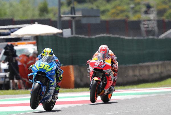Joan Mir, Team Suzuki MotoGP, Marc Marquez, Repsol Honda Team.