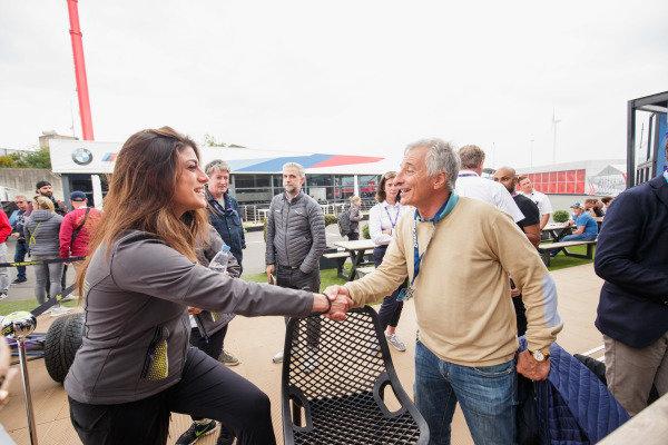 ex-F1 driver Riccardo Patrese meets Vicky Piria (ITA)