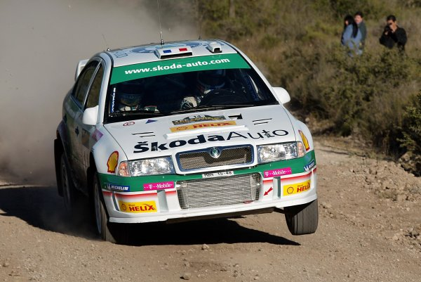 2003 FIA World Rally Champs. Round Five, Argentina,  8th-11th May 2003 Didier Auriol, Skoda, action. World Copyright: McKlein/LAT