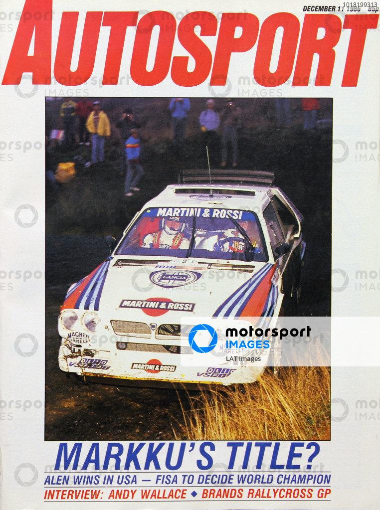 Autosport Covers 1986