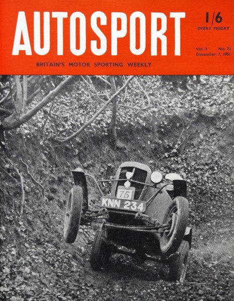 Cover of Autosport magazine, 7th December 1951