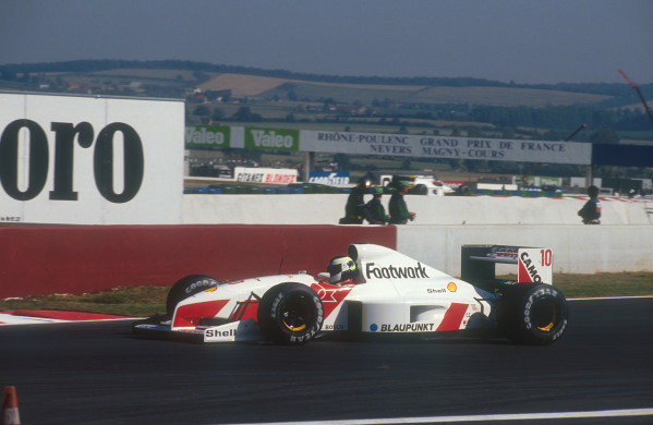 1991 French Grand Prix.Magny-Cours, France.5-7 July 1991.Stefan Johansson (Footwork FA12 Ford). He failed to qualify.Ref-91 FRA 03.World Copyright - LAT Photographic