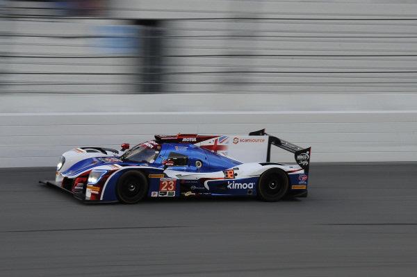 Fernando Alonso (ESP) / Lando Norris (GBR) / Phil Hanson (GBR) United Autosports Ligier LMP2 at Daytona 24 Hours Practice and Qualifying, Daytona International Speedway, Daytona, USA, 24-26 January 2018.