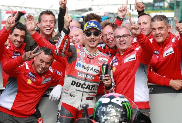 Polesitter Jorge Lorenzo, Ducati Team