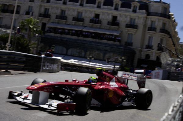 Felipe Massa, Ferrari 150° Italia, gets very sideways through Casino Square.
