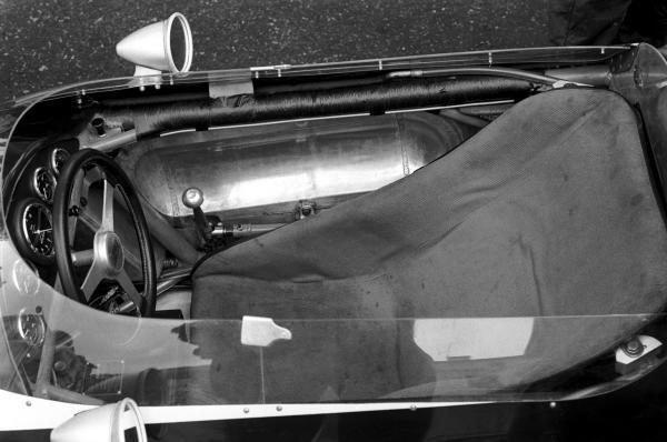 The Cooper T60 Cockpit of race winner Bruce McLaren (NZL). Monaco Grand Prix, Monte Carlo, 3 June 1962.