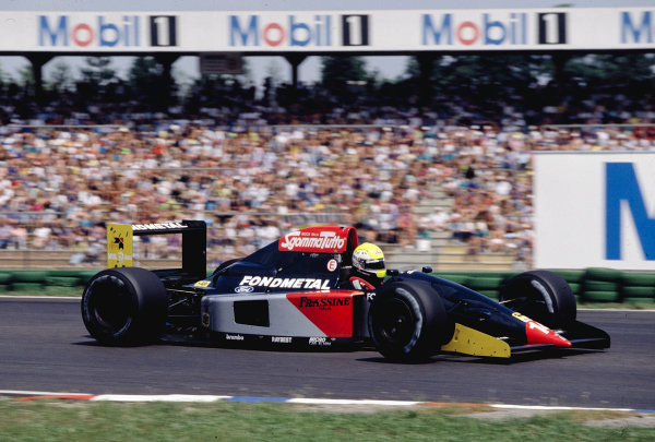 1992 German Grand Prix.Hockenheim, Germany. 24-26 July 1992.Andrea Chiesa (Fondmetal GR02 Ford).Ref-92 GER 12.World Copyright - LAT Photographic