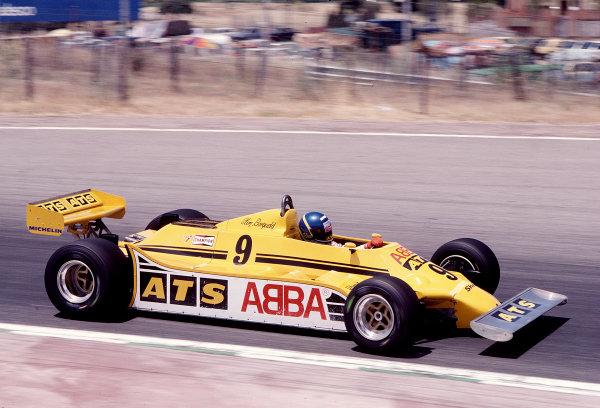 1981 Spanish Grand Prix. Jarama, Spain. 29-31 May 1981. Tommy Slim Borgudd (ATS HGS1 Ford). Ref-81 ESP 37. World Copyright - LAT Photographic