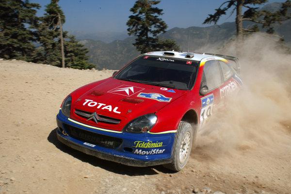 Carlos Saint in action in the Citroen Xsara WRC, Acropolis Rally 2003.Photo: McKlein/LAT