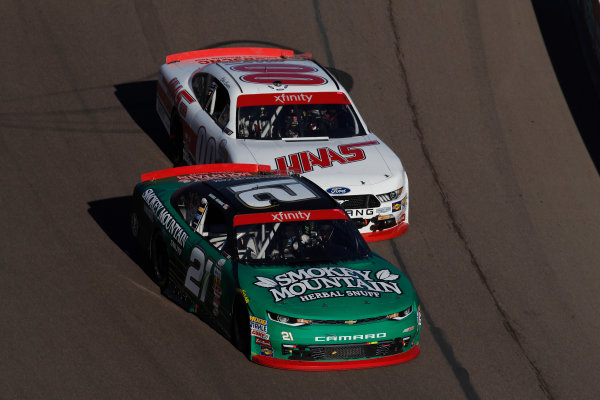 NASCAR XFINITY Series Ticket Galaxy 200 Phoenix Raceway, Avondale, AZ USA Saturday 11 November 2017 Daniel Hemric, Blue Gate Bank Chevrolet CamaroCole Custer, Haas Automation Ford Mustang World Copyright: Michael L. Levitt LAT Images
