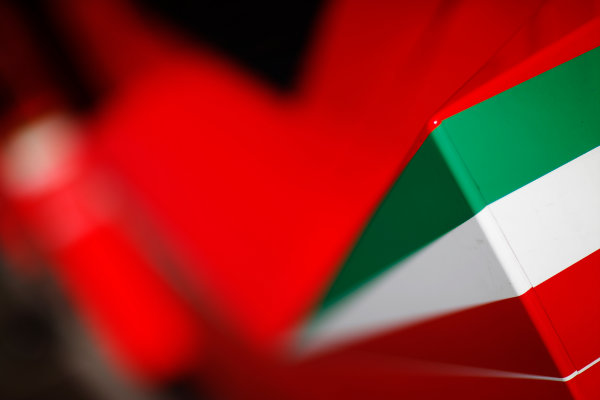 Red Bull Ring, Spielberg, Austria. Friday 19 June 2015. Italian flag detail on a Ferrari truck. World Copyright: Alastair Staley/LAT Photographic. ref: Digital Image _R6T0895