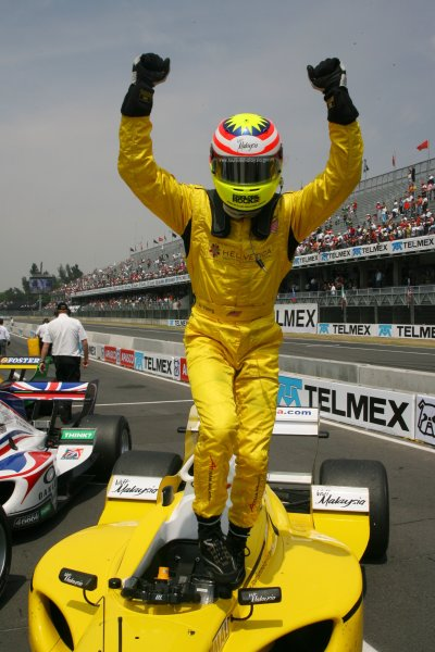 25.03 2007 Mexico City, Mexico, 1st place Alex Yoong, Driver of A1Team Malaysia - A1GP World Cup of Motorsport 2006/07, Round 9, Mexico City, Sunday Race 1 - Copyright A1GP - Free for editorial usage
