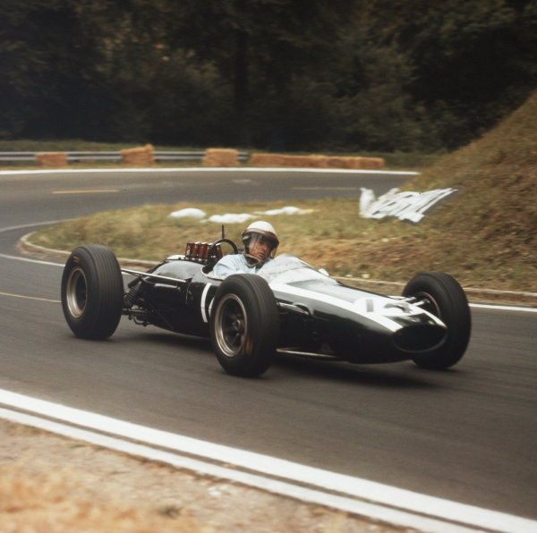 Rouen-les-Essarts, France.26-28 June 1964.Phil Hill (Cooper T73 Climax) 7th position.Ref-3/1291.World Copyright - LAT Photographic