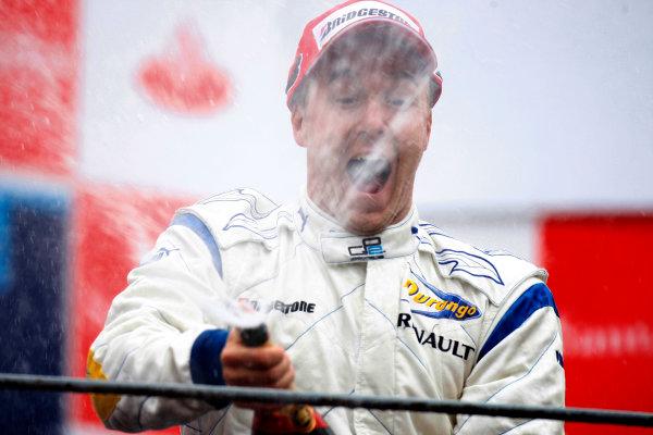 Autodromo di Monza, Monza, Italy 14th September.Sunday Race.  Davide Valsecchi (ITA, Durango) celebrates his victory on the podium. World Copyright: Glenn Dunbar/GP2 Series Media Service. ref: Digital Image _O9T7886