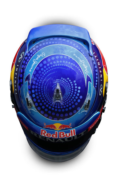 Albert Park, Melboune 14th March 2013 The helmet of Sebastian Vettel, Red Bull Racing. World Copyright: LAT Photographic ref: Digital Image DKAL8683