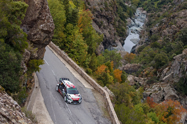 2015 World Rally Championship Round 11, Tour de Corse  1st - 4th October, 2015 Kris Meeke, DS, action  Worldwide Copyright: McKlein/LAT