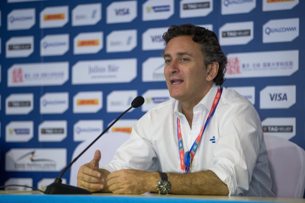 FIA Formula E Championship 2015/16. Beijing ePrix, Beijing, China. Alejandro Agag during the Press Conference   Beijing, China, Asia. Friday 23 October 2015 Photo:  / LAT / FE ref: Digital Image _L2_9990