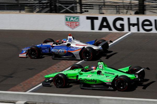 Stefan Wilson, Andretti Autosport Honda, Danica Patrick, Ed Carpenter Racing Chevrolet