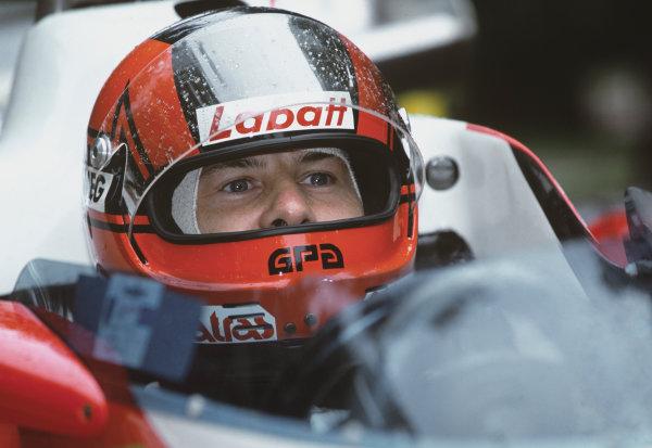 Goodwood, England. 25th-27th June 2004.Jacques Villeneuve drives the 1978 Ferrari 312T3 of his father, Gilles Villeneuve, portrait. World Copyright: LAT Photographic.Ref: 04FOS