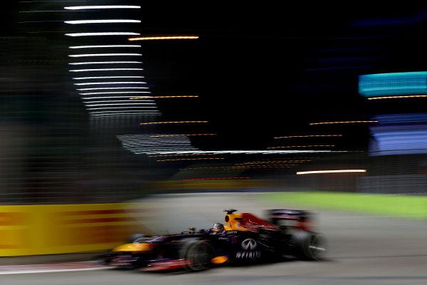 Marina Bay Circuit, Singapore. Sunday 22nd September 2013.  Sebastian Vettel, Red Bull RB9 Renault.  World Copyright: Glenn Dunbar/LAT Photographic. ref: Digital Image _89P0859