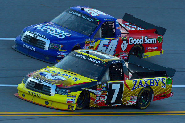 October 18-19, 2013, Talladega, Alabama USA John Wes Townley and Darrell Wallace Jr trucks © 2013, Brian Czobat LAT Photo USA