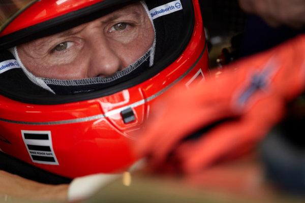 Interlagos, Sao Paulo, Brazil. 26th November 2011. Michael Schumacher, Mercedes GP W02. Portrait. Helmets.  World Copyright: Steve Etherington/LAT Photographic ref: Digital Image SNE26834