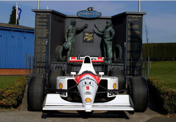 An ex-Ayrton Senna (BRA) 1991 McLaren Honda MP4/6.