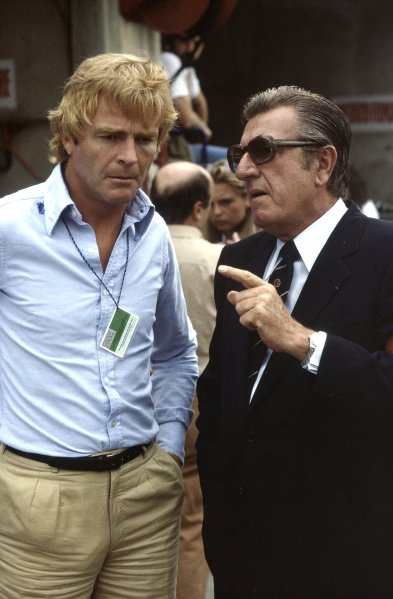1981 Italian Grand Prix. Monza, Italy. 13 September 1981. Max Mosley and Jean-Marie Balestre. Portrait. World Copyright: LAT Photographic Ref: 35mm transparency
