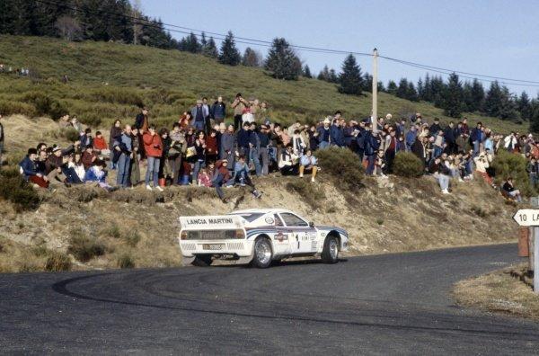 1983 World Rally Championship.Monte Carlo Rally, Monaco. 22-29 January 1983.Walter Rohrl/Christian Geistdorfer (Lancia Rally 037), 1st position.World Copyright: LAT PhotographicRef: 35mm transparency 83RALLY01