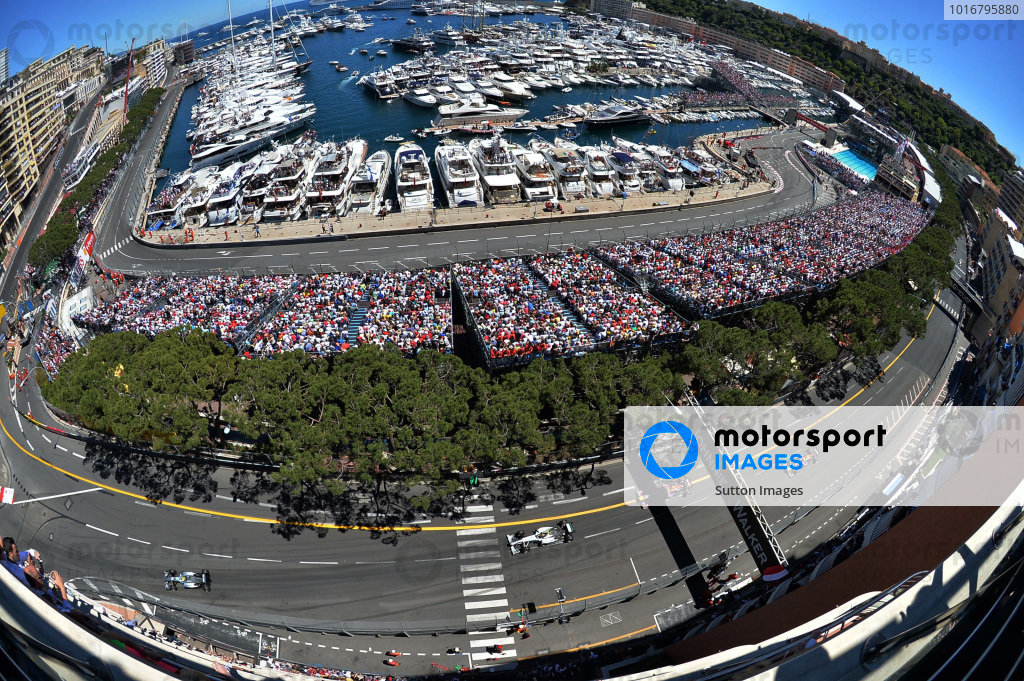 Nico Rosberg (GER) Mercedes AMG F1 W04 leads Lewis Hamilton (GBR) Mercedes AMG F1 W04. Formula One World Championship, Rd6, Monaco Grand Prix, Race Day, Monte-Carlo, Monaco, Sunday 26 May 2013. BEST IMAGE