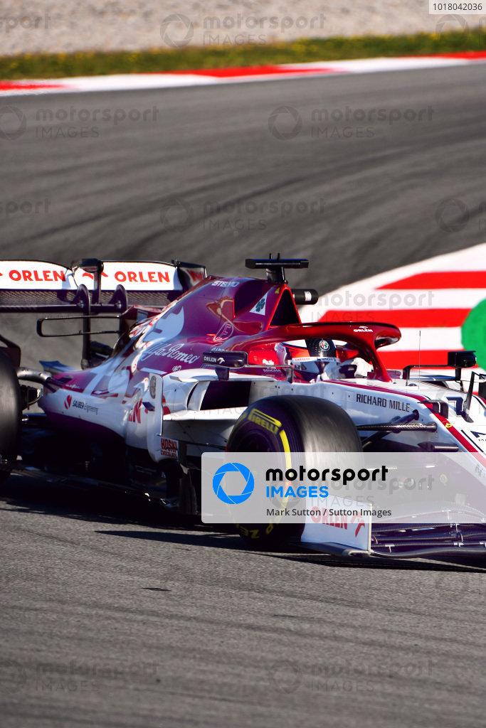 Kimi Raikkonen, Alfa Romeo Racing C39 Bacelona F1 test 2020