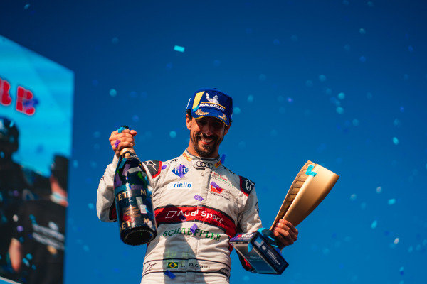 Lucas Di Grassi (BRA), Audi Sport ABT Schaeffler celebrates 3rd position in the championship on the podium