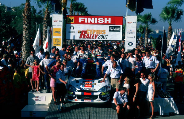 The Ford Team celebrate victory.Photo:McKlein