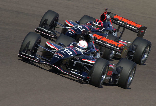Team Penske in the IRNLS: Gil de Ferran (66) and Helio Castroneves (68).