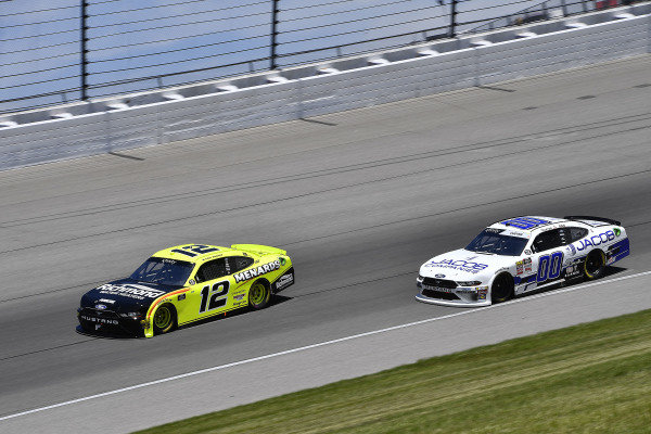 #12: Paul Menard, Team Penske, Ford Mustang Menards/Richmond and #00: Cole Custer, Stewart-Haas Racing, Ford Mustang Jacob Companies