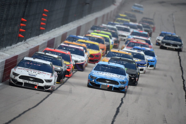 Brad Keselowski, Team Penske Ford Discount Tire, leads Copyright: Jared C. Tilton/Getty Images.