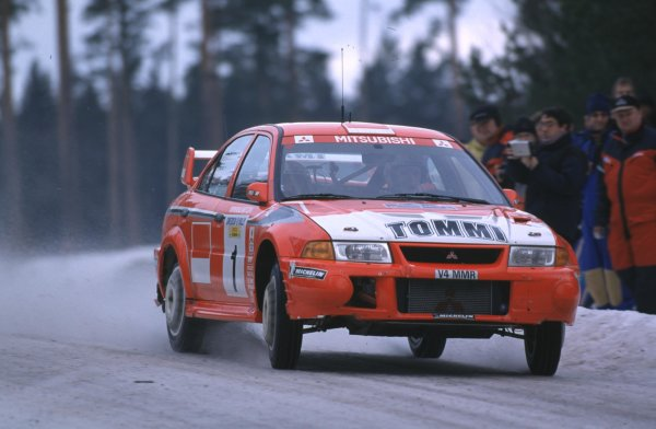 Tommi Makinen, Mitsubishi Lancer Evo 6Swedish Rally, Sweden 10-13/2/2000World - McKlein/LAT PhotographicRef: 2K WRC 07