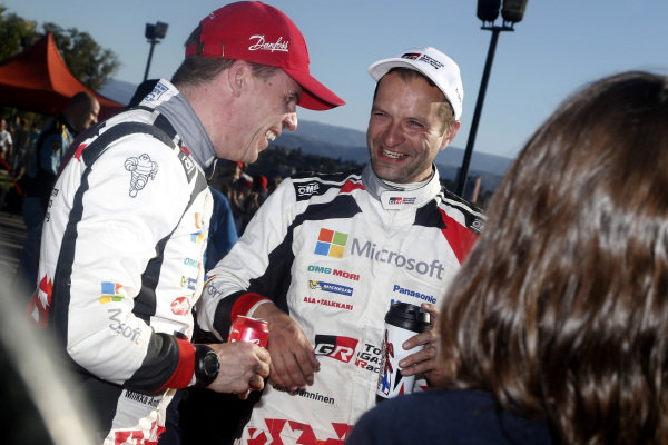 Juho Hanninen (FIN) / Kaj Lindstrom (FIN), Toyota Gazoo Racing WRC at World Rally Championship, Rd5, Rally Argentina, Day Two, Villa Carlos Paz, Cordoba, Argentina, 29 April 2017.