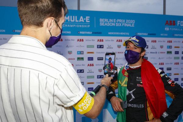 Antonio Félix da Costa (PRT), DS Techeetah talks to the press